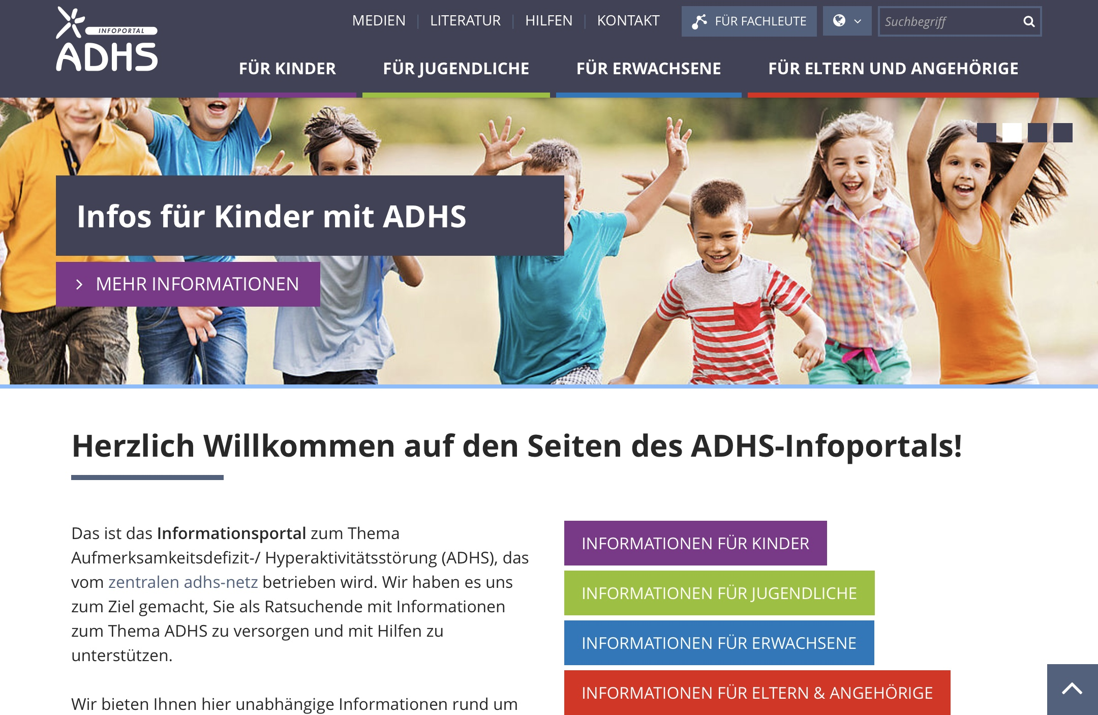 Site Web ADHS Infoportal