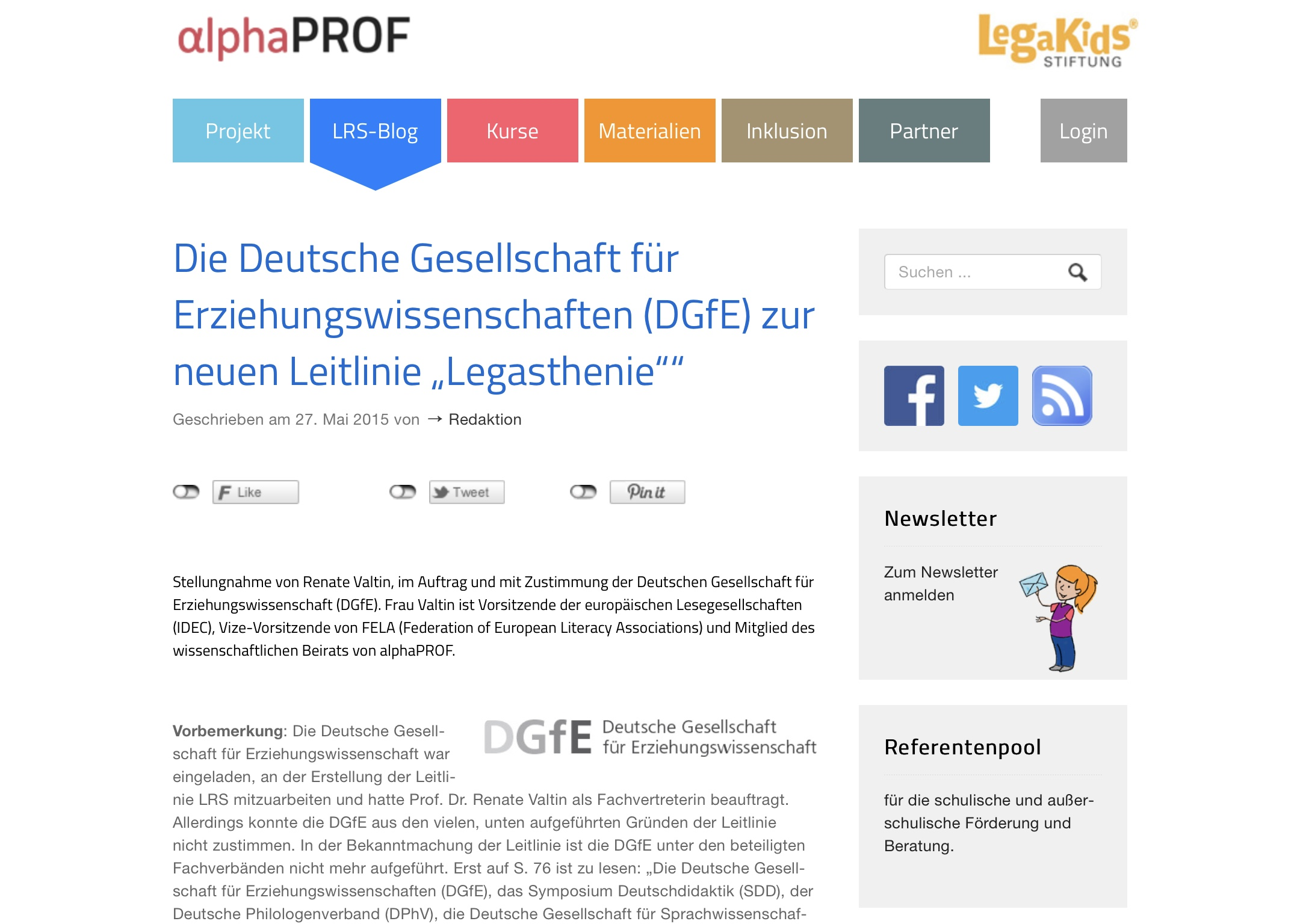 Site Web Neue Leitlinie