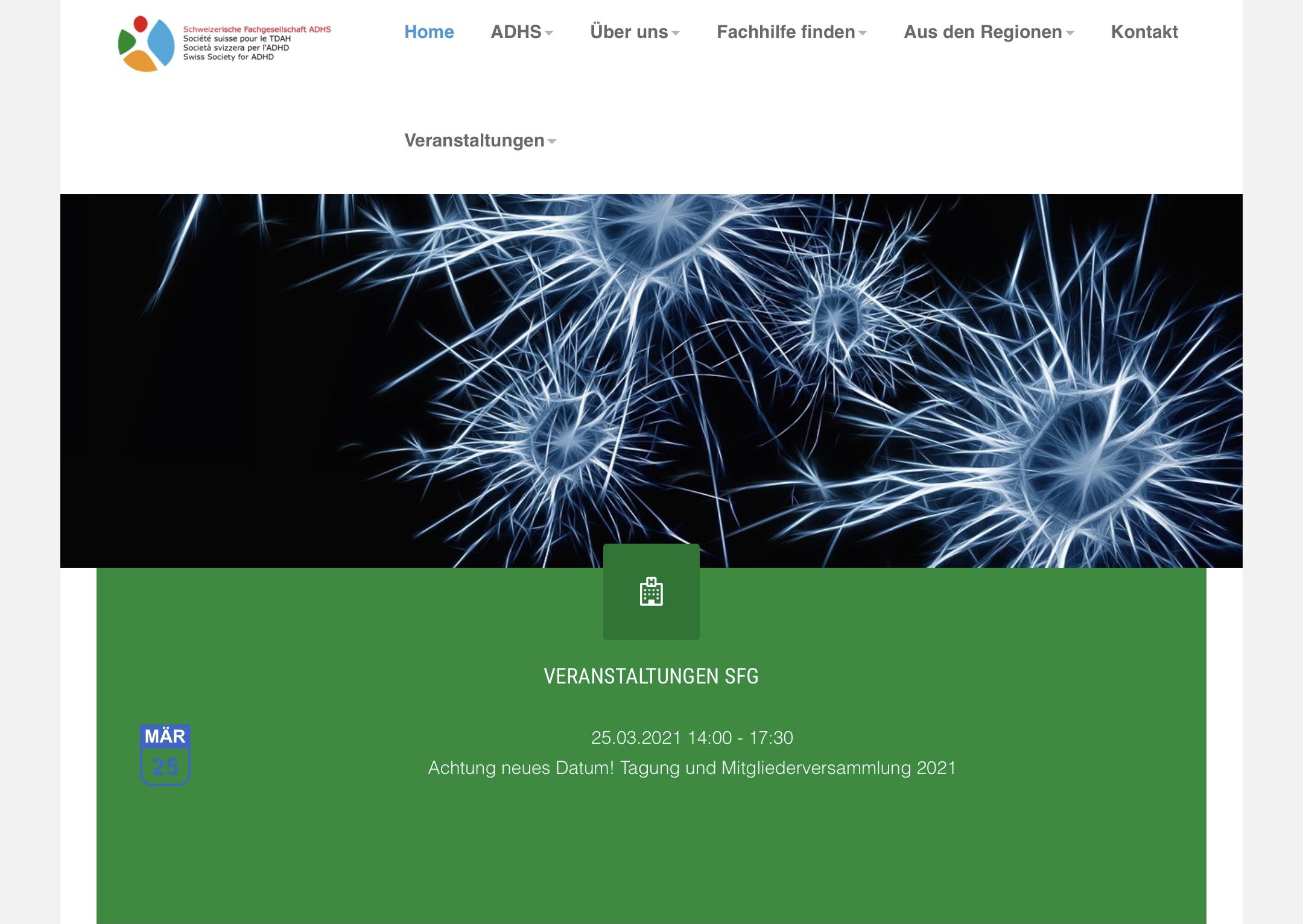 Site Web SFG ADHS