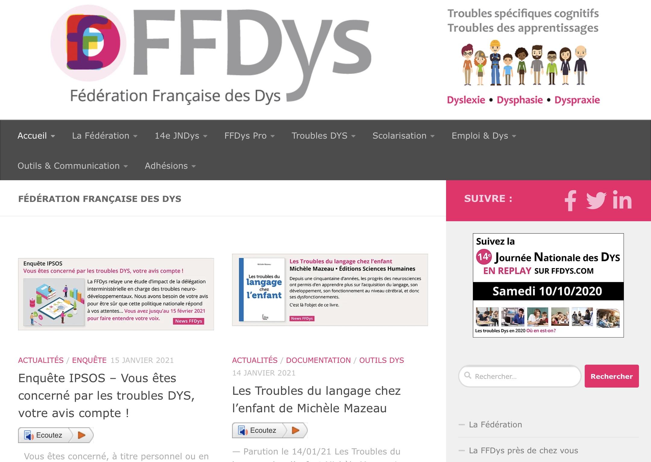 Site Web FFDys