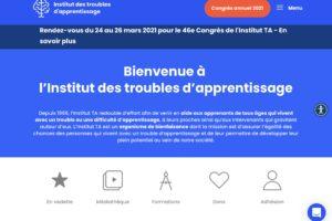 Site Web Institut TA Quebec